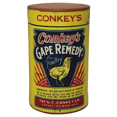 "Vintage Veterinary ""Conkey's"" Gape Remedy Unopened Container"