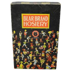 "1930's ""Bear Brand"" Hosiery Box"