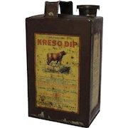 "Early Veterinary ""Kreso Dip"" Half Gallon Tin"