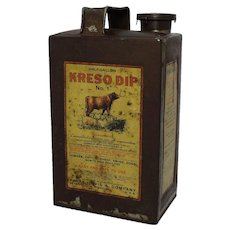 "Early Veterinary ""Kreso Dip"" Half Gallon Tin"