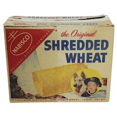 "1955 Shredded Wheat Box with ""Rin Tin Tin"" Promotiona"
