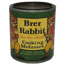 "1940's ""Brer Rabbit"" Cooking Molasses Tin"
