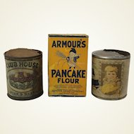 Three Assorted Old  Advertising Containers