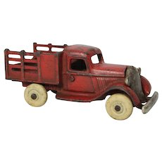1930's Arcade Cast Iron Plymouth Stake Truck