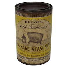 "Vintage ""Regoes"" Old Fashioned Sausage Seasoning Tin"