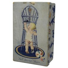"1920's, 30's Vintage Child's ""Self Starter"" Shoe Box"