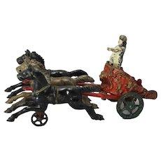 1910's Hubley Cast Iron Horse Drawn Royal Circus Chariot Wagon
