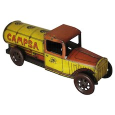 "1930's Tin Wind-up  Rico ""Campsa"" Oil Tanker"