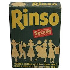 "1940's ""Rinso"" Unopened Retro Soap Detergent Box"