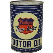 "Pre-1927 Phillips ""Trop-Artic"" Motor Oil 1 Qt. Can"