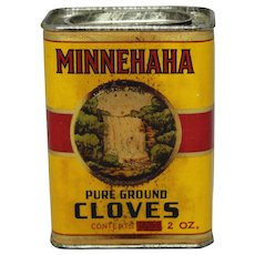 """1930's, 40's """"Minnehaha"""" Cloves Spice Container"""