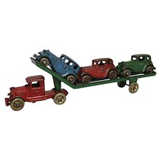 A.C. Williams Car Transport Truck with 3 Austin Cars