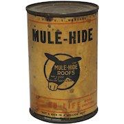 Rare Unopened Can of Mule-Hide Liquid Asphalt Roof Coating