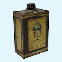 "Early Hand Soldered ""Union"" Wood Polish Tin"