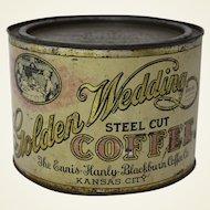 "Early 1900's ""Golden Wedding"" Coffee Tin"