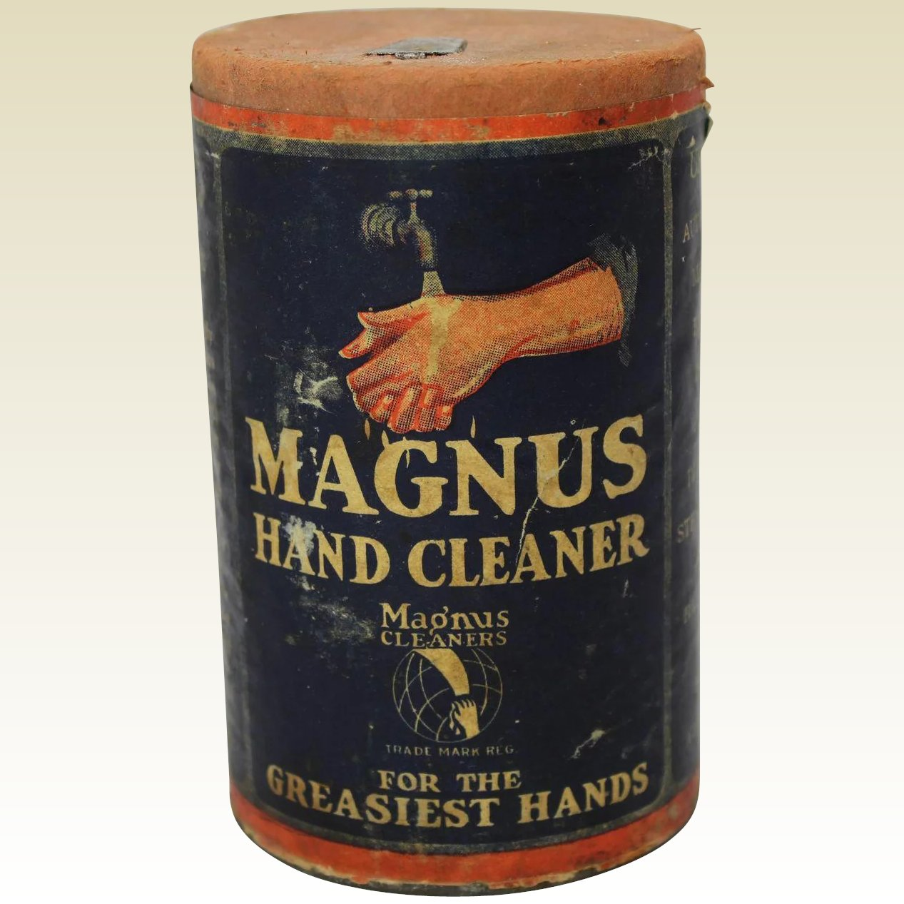 Vintage Quot Magnus Quot Hand Cleaner Container The Curious American Ruby Lane