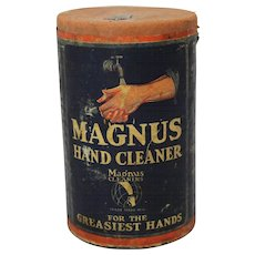 "Vintage ""Magnus"" Hand Cleaner Container"
