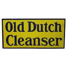 """Authentic """"Old Dutch Cleanser"""" Embossed Tin Sign"""