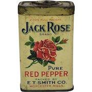 """Vintage """"Jack Rose"""" Red Pepper Spice Tin"""
