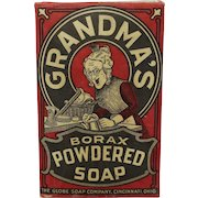 Early 1920's Unopened Box of Grandma's Borax Powdered Soap