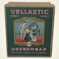 "1920's Advertising Box of ""Vellastic"" Children's Knit Underwear"