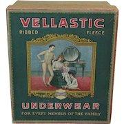 "1920's Advertising Box of ""Vellastic"" Children's Knit Underwear"