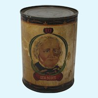 """Early General Scott """"Scott County Brand"""" Vegetable Can"""