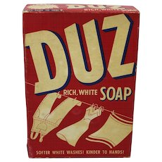 "1950's Unopened Box of ""Duz"" Laundry Detergent"