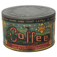 Early 1900's Chase & Sanborn, Montreal Coffee Tin