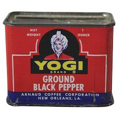 Yogi Brand Ground Black Pepper Spice Tin