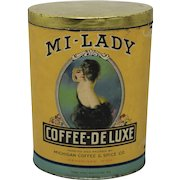 1920's 'Mi-Lady Coffee-Deluxe' Coffee Container