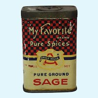 Rare 'My Favorite' Brand Litho Spice Tin