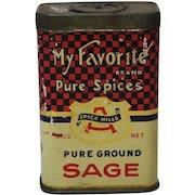 Rare 'My Favorite' Brand Litho Spice Tin