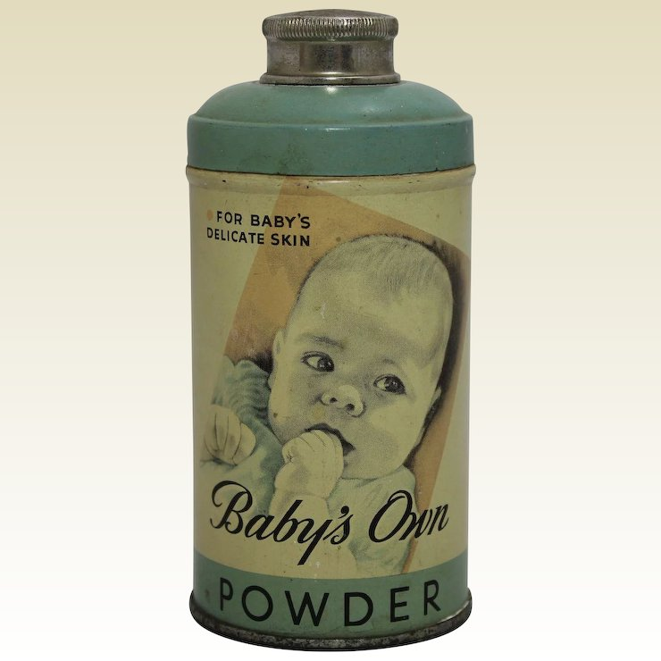 Vintage Babys Own Powder Full Tin The Curious American Ruby Lane