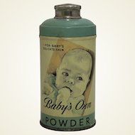 "Vintage ""Babys Own Powder"" Full Tin"