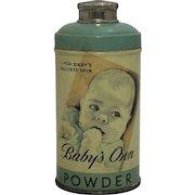 "Vintage ""Babys Own Powder"" Full Tin"