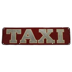 1930's, 40's 'MacEllis of Boston' Embossed Metal Taxi Sign