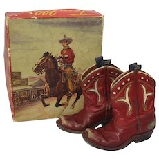 Late 1920's, early 30's 'Tom Mix' Youth Cowboy Boots with Original Box