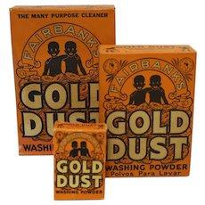 Three Asst. Fairbanks Gold Dust Washing Powder