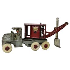 "Early 1930's  Hubley 10"" Mach 'General' Shovel Truck"
