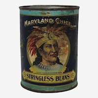 "Early 1900's 'Maryland Chief"" Vegetable Can"