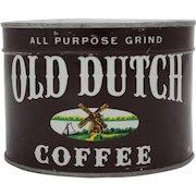 1950's Unopened Old Dutch Key Wind Coffee Tin