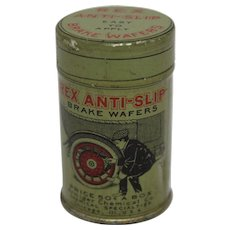 Early 1900's Rex Anti-Slip Break Wafers Litho Tin