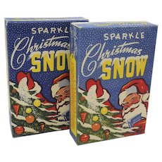 "Two Vintage 1950's Boxes of ""Sparkle"" Christmas Snow"