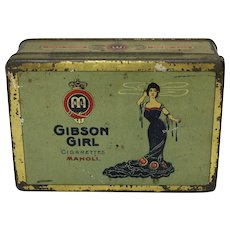 Pre-1920 German Gibson Girl Cigarette Tin