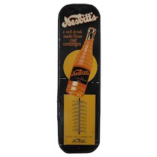 1940's Nesbitt's Orange Soda Metal Thermometer