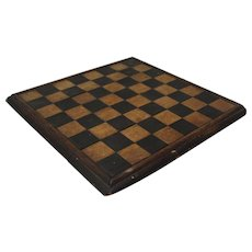 1800'S Primitive Folk Art Wood Inlay Game Board