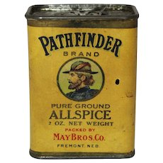 "Early 1900's Rare Nebraska ""Pathfinder"" 2 oz. Allspice Spice Container"