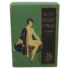 1920's 'Signet Hosiery' Flapper Girl Underwear Box