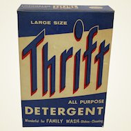 "1950's Unopened  Large Size Box of ""THRIFT"" Detergent"